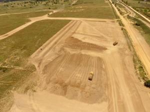 Earthworks already in progress